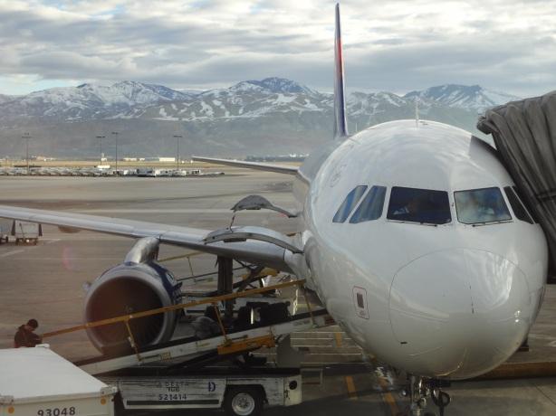 I flew through Salt Lake City